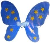 Modrá křídla v sáčku hvězdičky motýlek