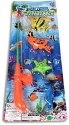 Hra rybičky set 4ks s rybářským prutem dětský rybolov na kartě plast