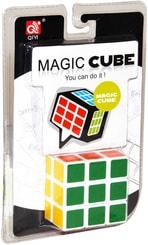 Kostka (Rubikova) dětský klasický hlavolam 5,5cm na kartě