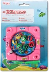 Rybičky magnetické mini dětský rybolov na klíček set 8 rybiček + 3 udice plast