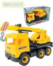 Middle Truck auto jeřáb 38cm žluté plastové 32122