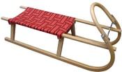 Sáně 110cm dřevěné A2041 - červené