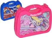 Doktorský kufřík průhledný se se stetoskopem a doplňky 26 cm 2 barvy PLAST