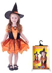 Karnevalový kostým čarodějnice/halloween dýňová, vel. M