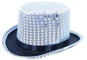 klobouk cylindr s flitry a stuhou, dospělý