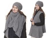 Pletená vesta / šála