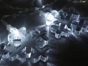 Světelný LED řetěz vločky