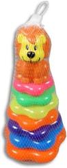 Pyramida baby kroužky navlékací Lev pro miminko plast