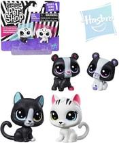 LPS Littlest Pet Shop zvířátko černobílé 3cm set 2ks 3 druhy plast