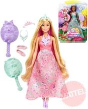 Panenka Barbie Dreamtopia kadeřnický set 3v1 kouzelné vlasy 2 druhy