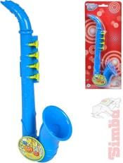 Saxofon dětský 26cm modrý na kartě