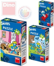 Puzzle Šmoulové 23,5x21,5cm 60 dílků 6 druhů v krabičce