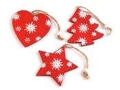 Dřevěná vánoční dekorace 750444