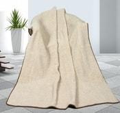 Vlněná deka 155x200cm béžová - evropské merino