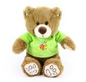 Plyšový medvěd 20 cm v oblečku hnědý
