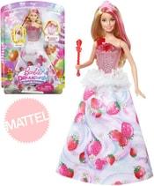 MATTEL Panenka Barbie 29cm Dreamtopia princezna jahůdková