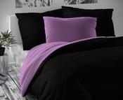 Saténové povlečení LUXURY COLLECTION 140x200, 70x90cm černé / fialové