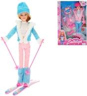 Panenka lyžařka 29cm kloubová trendy obleček set s doplňky 2 druhy