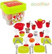 Set dětský jídelní plastové nádobí s potravinami 36ks v boxu