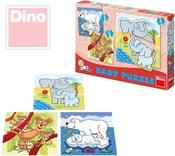 Puzzle baby set 3v1 ZOO zvířátka 12 dílků v krabici 18x18cm