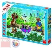 Puzzle 100d XL Krtek (krteček) plave