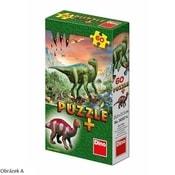 Puzzle 60 dílků Dinosauři 6 druhů + figurka dinosaura