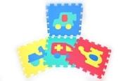 Měkké bloky/puzzle na zem 30 x 30 dopravní prostředky