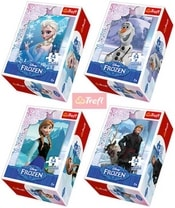 PUZZLE 54 dílků mini Ledové Království (Frozen) 4 druhy 154141
