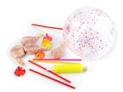 Nafukovací balónky s kuličkami a pumpičkou