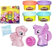 PLAY-DOH Razítka MLP My Little Pony set 4 kelímky a 2 poníci