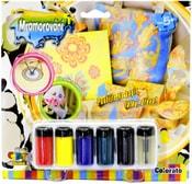 Mramorování kreativní dětská sada 6 barev s perem a doplňky na kartě