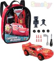 Batoh dětský Cars 3 (Auta) set šroubovací autíčko + nářadí k sestavení