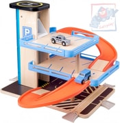 Garáž 2 patra parkovací dům s výtahem set se 2 autíčky plast