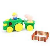 Traktor s vlečkou se zvukem a světlem