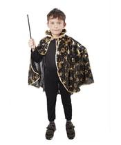 Karnevalový kostým plášť čarodějnický černý, dětský