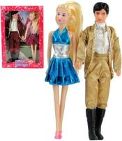 Panenka 29cm set s panákem v módním trendy oblečku různé druhy v krabičce