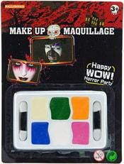 KARNEVAL Party halloween barvy dětské obličejové set s aplikátory na kartě