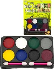 KARNEVAL Party horrorové barvy dětské obličejové set s aplikátory na kartě
