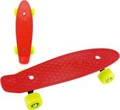 Skateboard dětský pennyboard červený 43cm plastové osy zelená kola