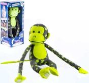 Baby opička svítící ve tmě 45cm šedo-žlutá s hvězdičkami fosforeskující