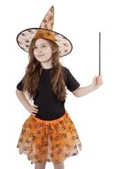 Sukně tutu Halloween s kloboukem