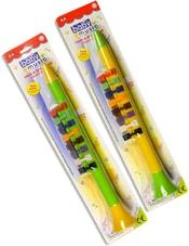 Flétna barevná 34cm dětská 2 barvy plast