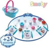 Dětská sada nádobí Koš piknikový set s nádobím a doplňky Ledové Království