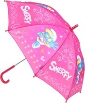 Deštník dětský 62cm Šmoulové mechanický růžový