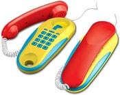 Telefon dětský drátový Sada 2 kusy