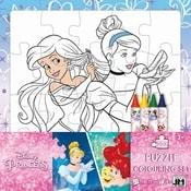 Puzzle k vymalování Disney Princezny