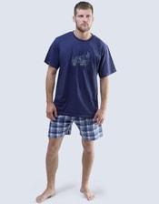 Krátké pánské pyžamo Motorka 79050P