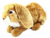 Plyšový králík ležící, 30 cm