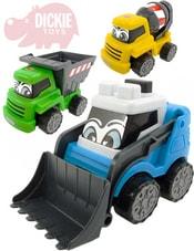 Baby auto veselé pracovní Happy Builder s očima 3 barvy 3 druhy