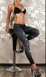 Legíny jeans CR-9033